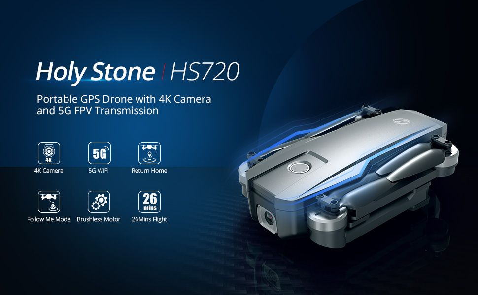 Holy Stone HS720 FPV Drone With 4K FHD Camera and GPS