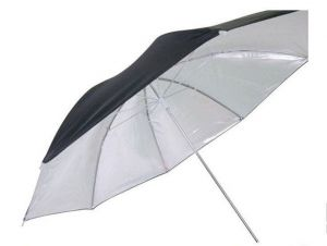 Godox UB-006 Dual-Duty Reflective Umbrella(Black/Silver/White)40'' 84CM
