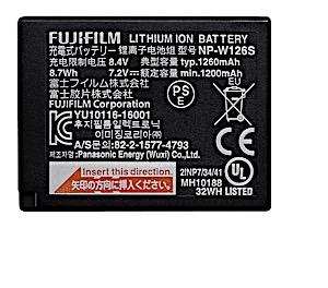 Fujifilm Battery NP-W126S 1260mAh